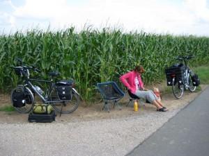 Lunchen onderweg naar Remagen