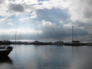 De zon boven de Zuiderzee